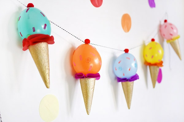 DIY Ice Cream Party Garland, perfect for any dessert themed party! Delineate Your Dwelling