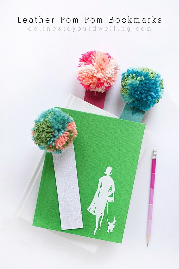 DIY-Leather-Pom-Pom-Bookmarks, Top Reader Creative, Craft, Home Decor 2017 Posts, Delineate Your Dwelling