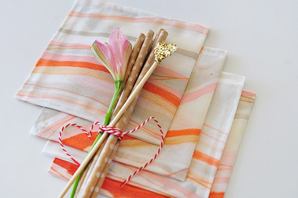 Hand Painted Cocktail Napkins 2