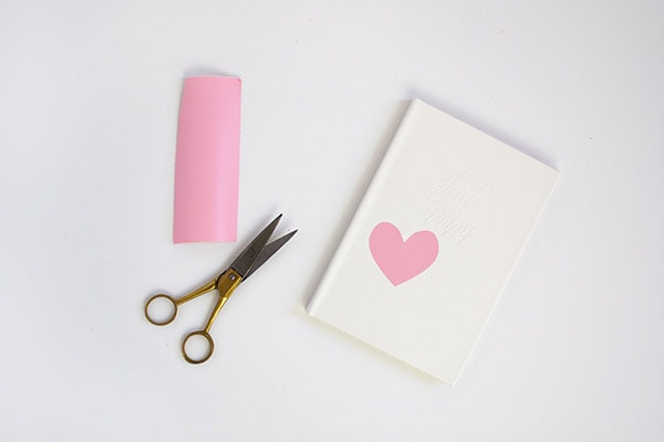 Marbled Heart Notebook step 1