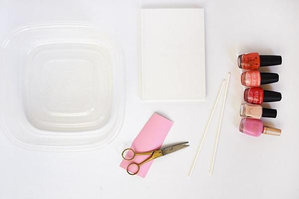 Marbled Heart Notebook supplies