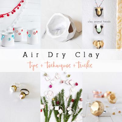 1 Air Dry Clay Tips