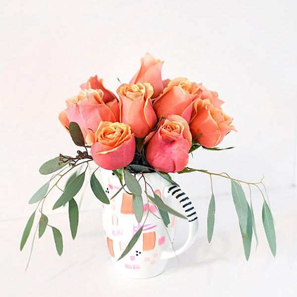 DIY Flower Mug Vase