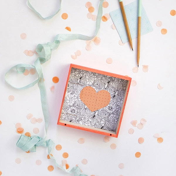 Square Mosaic Heart Puzzle DIY