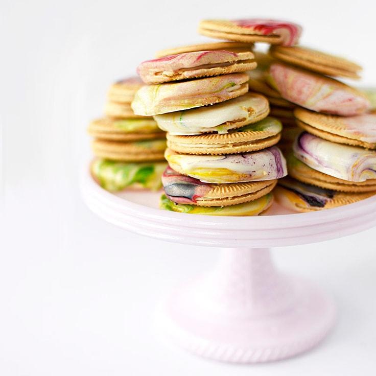 Marbled Spring Cookies